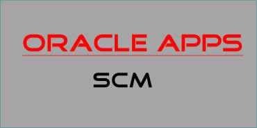 Oracle Apps SCM